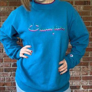 •Vintage• Champion Spellout Crewneck Sweater